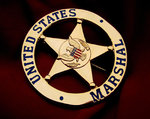 United States Marshal gold plated Badge