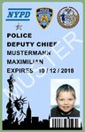 Film-Ausweis / ID Card - Police Department City of New York - Deputy Chief - Ihr Name - Blanko
