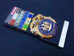 Chief of Department NYPD+5x Insignia citation bars+leather holder+blanco name plate