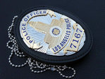 Police Officer Los Angeles Police Department - LAPD Nr. 7167 + Badge Holder for LAPD with belt clip
